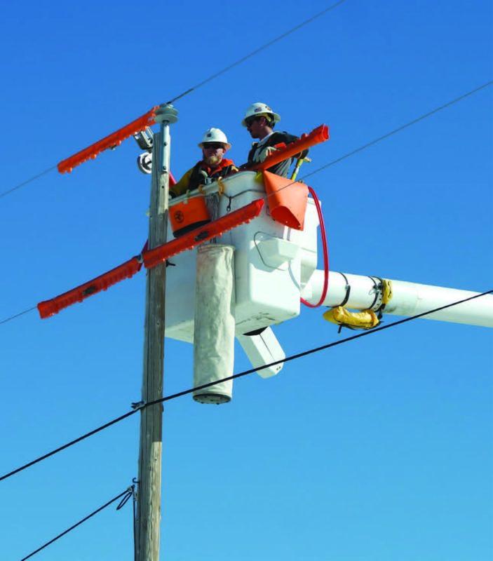 Powerline workers