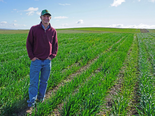 Kyle Bender is farm manager at Columbia Basin Agricultural Research Center in Moro.