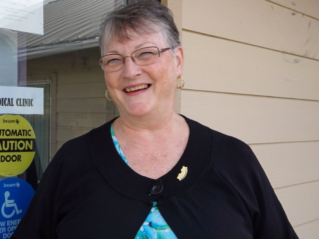 For 10 years, Sharon DeHart has worked in a rural health clinic. In addition to patient care and office management, she is chief fundraiser for the proposed Deschutes Rim Health Clinic in Maupin.